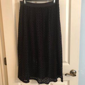 Weston, Black Midi Length Skirt